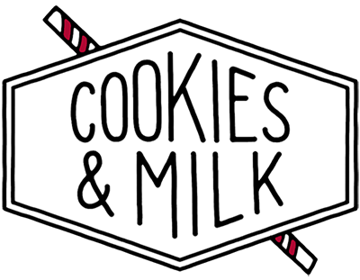 Cookies & Milk Mobile App Development Logo